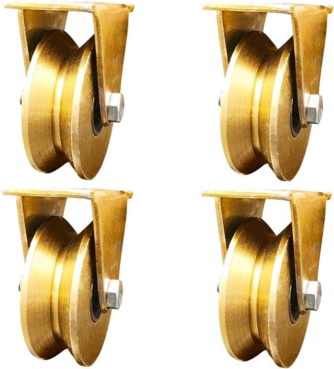 wheel 4 Pack 1.2 Pulgadas Tipo V polea Pista Rueda rodamiento Ranura Rueda ángulo de Puerta corredera Rueda de Hierro Rueda pequeña Rueda de guía polea Fija: Amazon.es: Hogar
