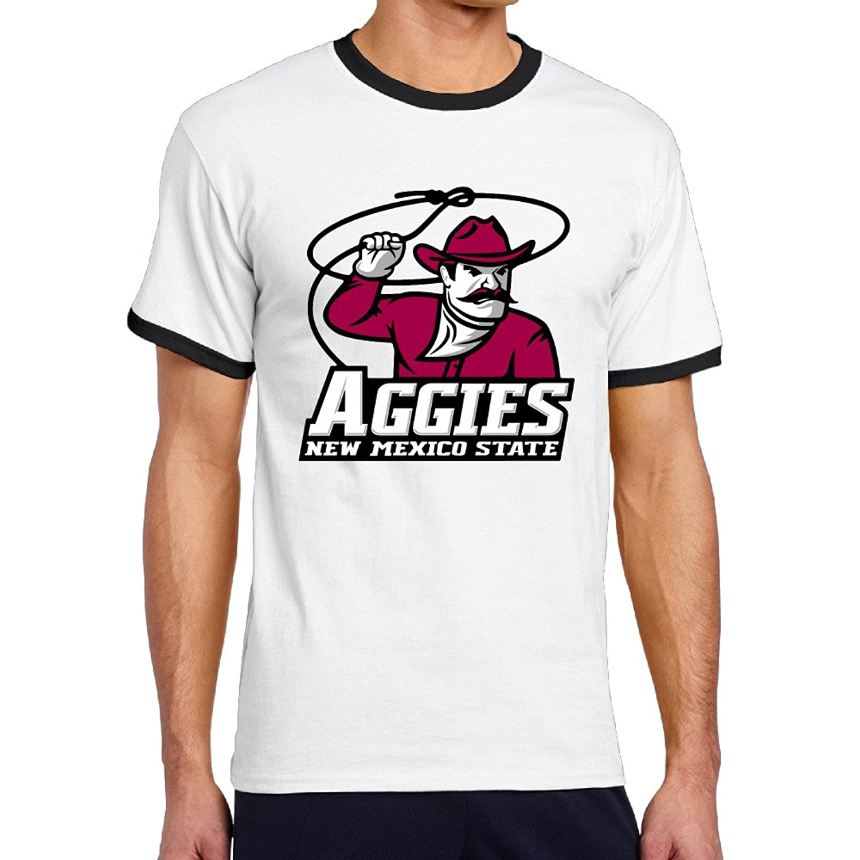 WG Men's Two-toned T-shirts-Fashion New Mexico State University NMSU Aggies Black
