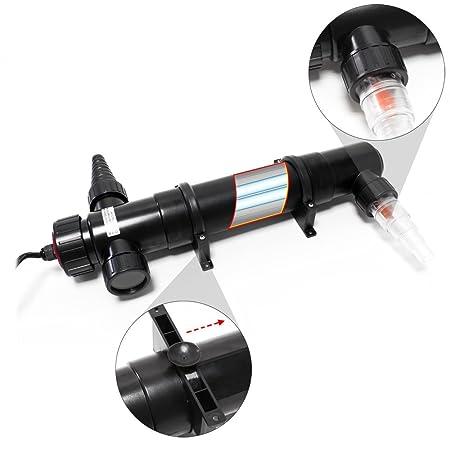 SunSun CUV-136 clarificador agua estanques filtro luz lámpara UV aclarador 36W jardín bomba filtro: Amazon.es: Jardín