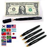 5 Smart Money Counterfeit Bill Checker Fake Money World Wide Detector Tester Pen