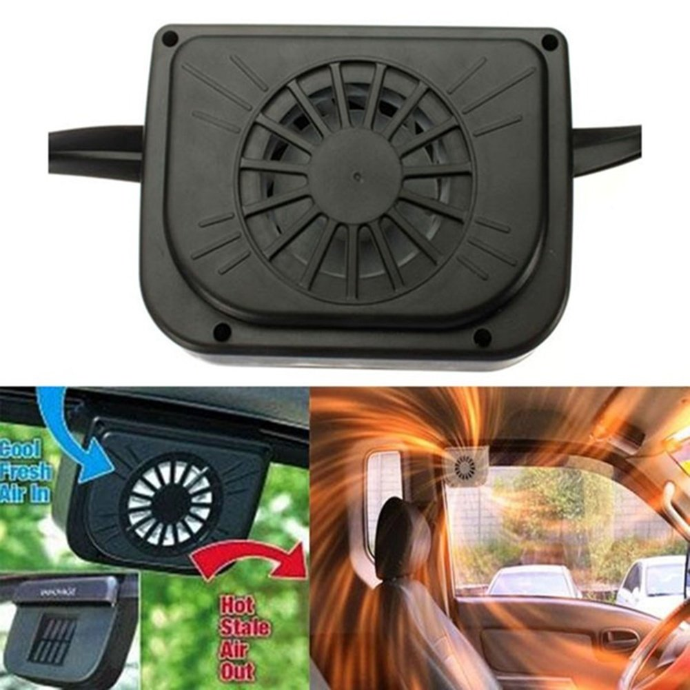 XJG Auto Cool Ventilation System Solar Sun Powered Car Air Cool Cooler Fan Vent