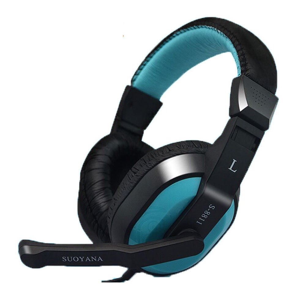 Boofab Gaming Headset Bass Stereo Over-ear Gaming Headphone with Microphone and Volume Control for PS4/New Xbox One/Xbox One S/Xbox One X/Nintendo Switch/PC/Phones