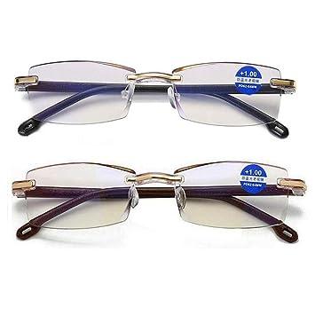 Amazon.com: REAVEE - Gafas de lectura, ligeras, color azul ...
