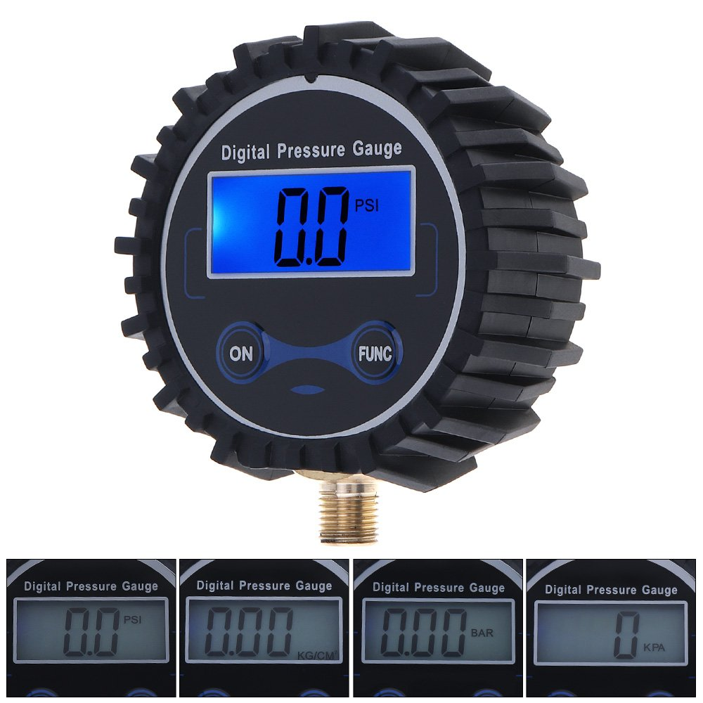 ePathChina® Tire Pressure Gauge Digital Night Vision Metal Connector Car Tire Portable ABS + Metal Precision Electronic