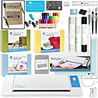 Silhouette Cameo 2 Touch Screen with Mega Bundle - Vinyl Rolls, Heat Transfer Kit, Rhinestone Kit, Fabric Kit, Starter Guide, Sketch Pens, Pixscan, Fabric Blade, and More!