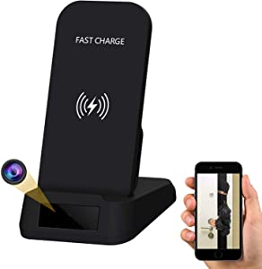 WiFi Hidden Camera Wireless Phone Charger Spy Camera, KAPOSEV 1080P Security Cameras Spy Nanny Cam with Motion Detection Alarm,Support Remote Monitoring and Recording/Playback Via Mobile Phone