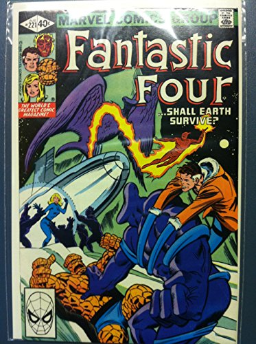 Fantastic Four #221 Tower of Crystal - Dreams of Glass Aug 80 Near-Mint (7 out of 10) Very Lightly Used by Mickeys Pubs
