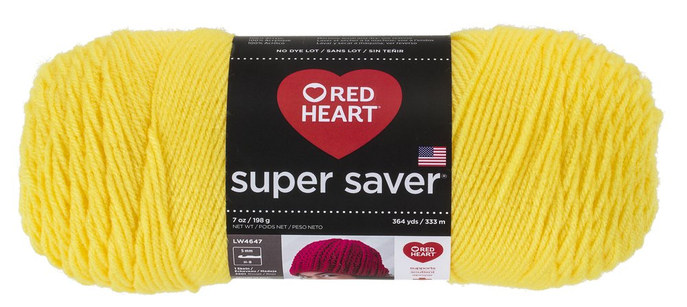 RED HEART Super Saver Yarn, Bright Yellow