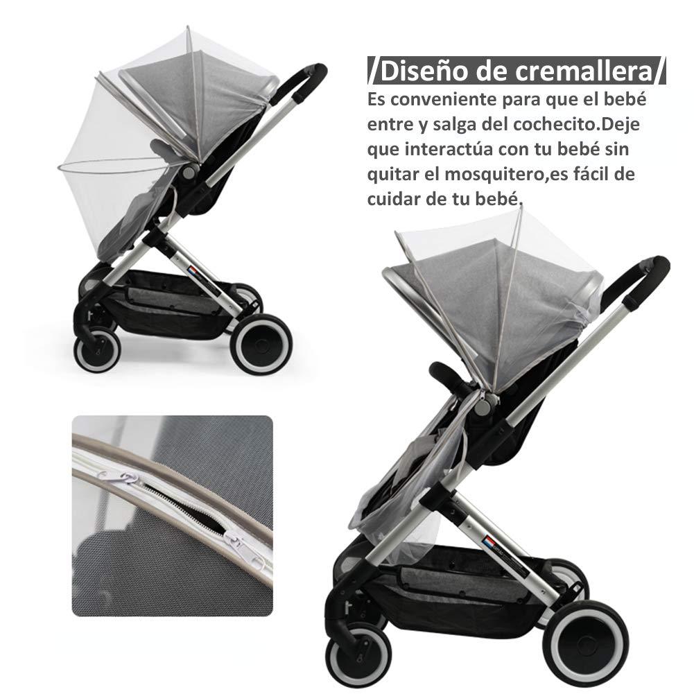 Homvik Mosquitera Universal Antimosquitos para Bebé Red Antiinsectos con Cremallera para Capazo,Silla de Paseo,Cuna de viaje,Carrito,Cochecito Etc.