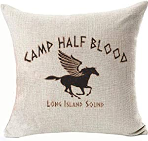 Camp Half Blood Pillows Covers Percy Jackson Demigods Olympians Decoratives Pillowcases for Home Couch Sofa Square Cushion Covers Two Side Color:3