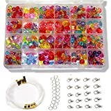 Ewparts Children DIY Bracelet Bead Art & Jewellery-Making , Girls Craft Set , Baby girl Gift ,Bead string making set , Cultivate Color sensitive, Color will not Fade (Transparent Colorful)