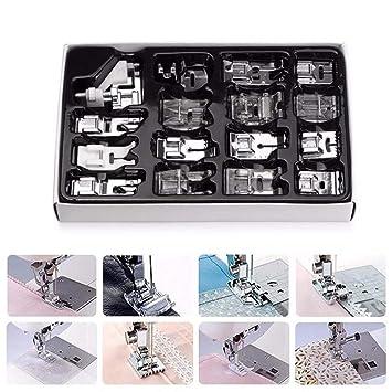 Juego de prensatelas para máquina de coser doméstica, 16 piezas, juego de patas de repuesto con caja para Brother Singer Janome: Amazon.es: Juguetes y ...