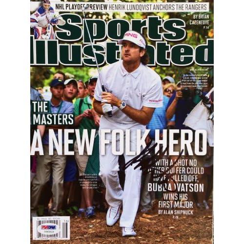 22b61b7aa2f4a Bubba Watson Signed No Label Sports Illustrated Magazine PSA/DNA ...