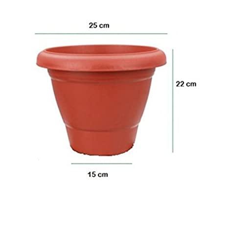 First Smart Deal 10 Inch Planter Pot Pack of 8 - Brown