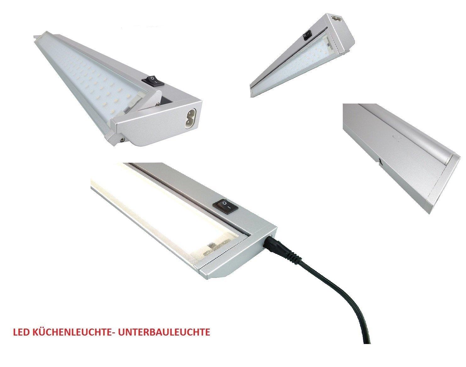 Neuauflage Modell 2016 NEU im Programm-Neutralweiss LED   SMD Schwenkbare -14,0 W Aluminium Unterbauleuchte mit Euro-Stecker  Schutzscheibe aus Glas-Länge ca 923mm - Anbauleuchte Anbaulampe Aufbauleuchte Aufbaulampe Lichtleiste Vitrinenleuchte Vitri