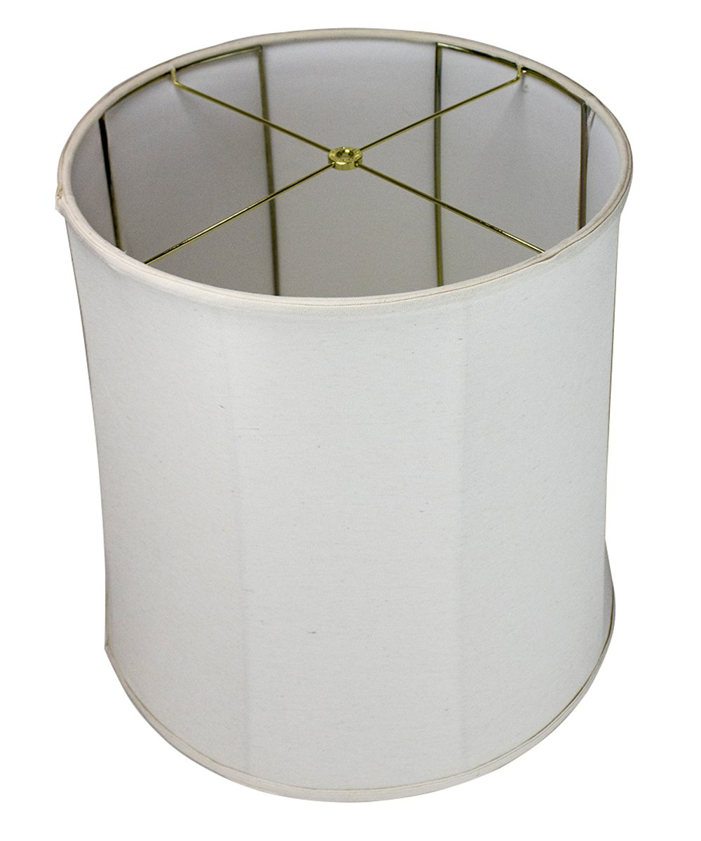 HomeConcept 161818DRLO Collapsible Drum Lampshade Premium Light Oatmeal Linen, 16'' x 18'' x 18''