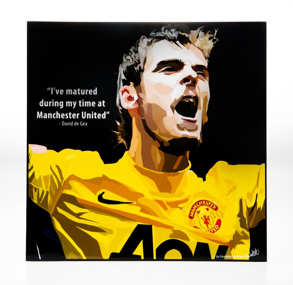 Amazon.com: David de Gea Manchester United Art Photo Modern Frame ...