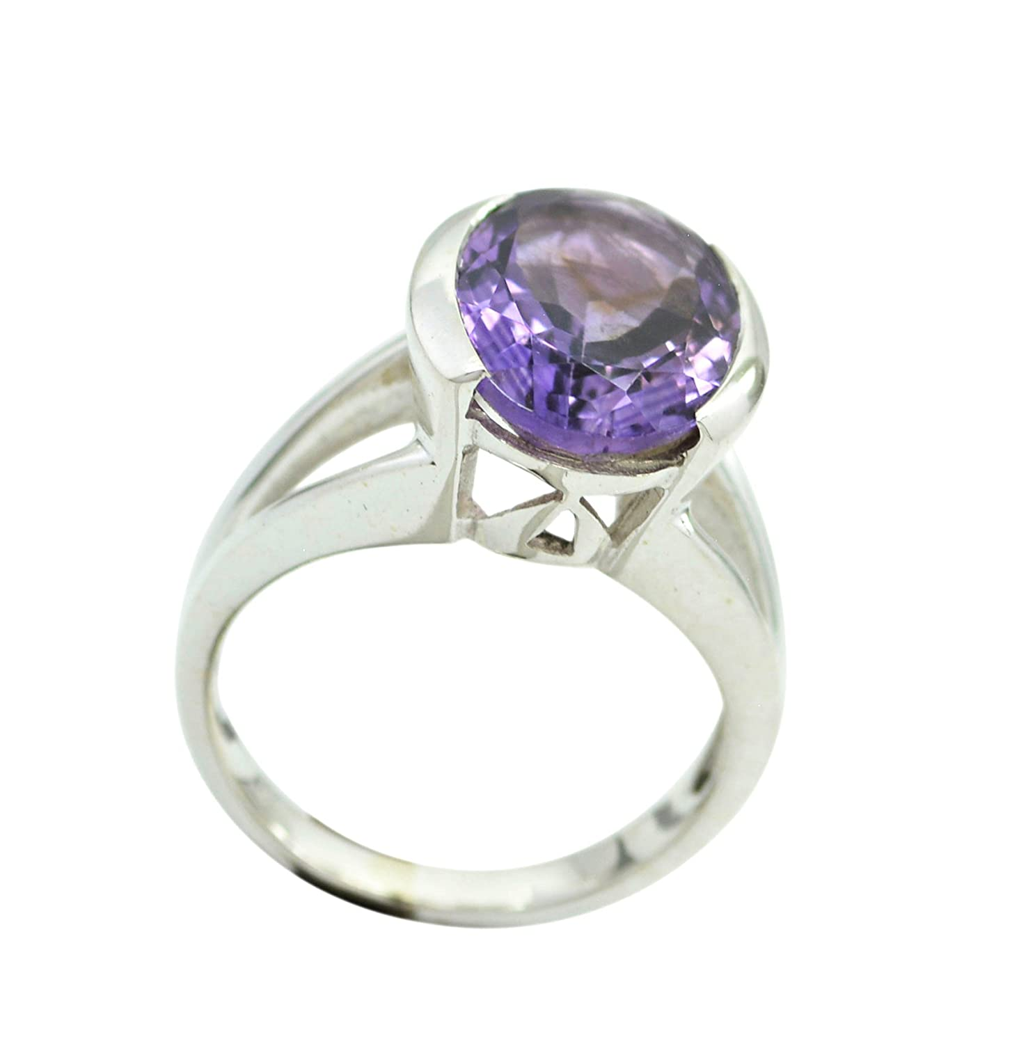Amethyst Ring Vintage Style February Birthstone Healing Sterling Silver Jewelry Size 5,6,7,8,9,10,11,12