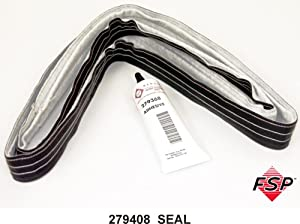 ForeverPRO 279408 Rear Drum Seal Red Stitch for Whirlpool Dryer 3028 347885 AH334194 DE768