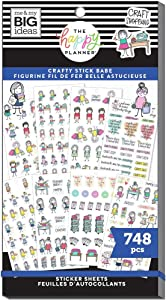 The Happy Planner Sticker Value Pack - Scrapbooking Supplies - Stick Girls Craft Theme - Multi-Color - Great for Projects, Scrapbooks & Albums - 30 Sheets, 748 Stickers Total