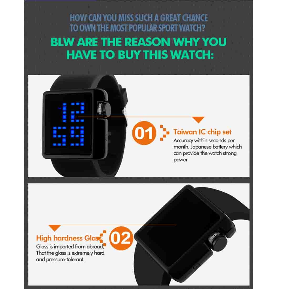 Strict 2018 New Square Watch Silicone Led Watches 24 Hours Date Bracelet Digital Sports Wristwatch Gift For Children Student Kids #w Buy Now Children's Watches