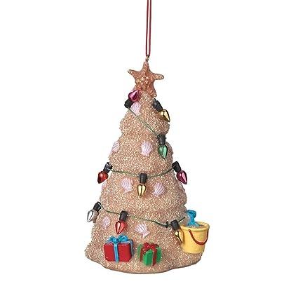 sand beach christmas tree hanging resin christmas ornament - Beach Christmas Tree