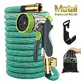 Begleri Garden Hose, 50ft Expandable Gardening Water Hoses Flexible Non-Kink Expanding Hose with Metal Spray Nozzle