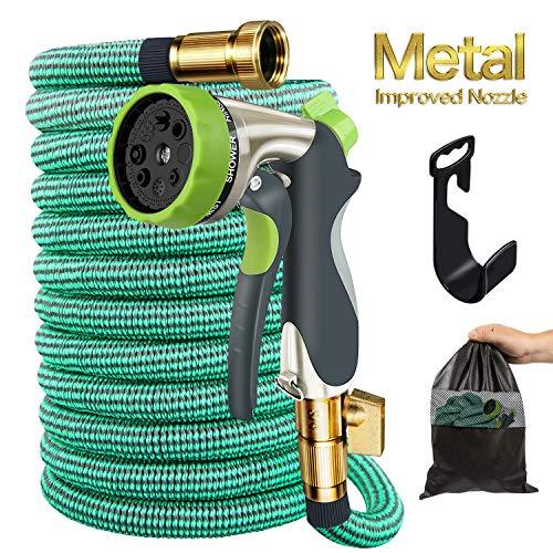 Begleri Garden Hose, 50ft Expandable Gardening Water Hoses Flexible Non-Kink Expanding Hose with Metal Spray Nozzle by Begleri