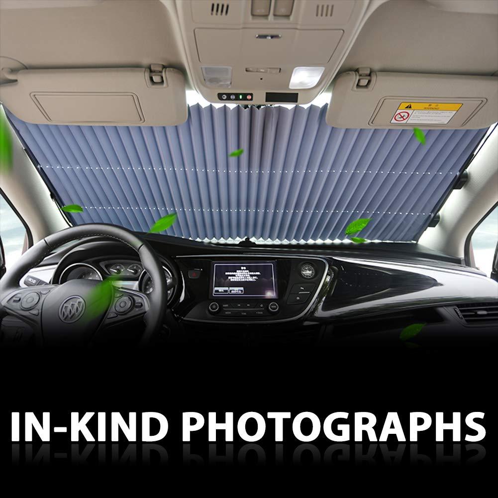 Tysonir Car Windshield Sun Shade UV Sun and Heat Reflector Sunshade to Keep Your Vehicle Cool and Damage Free Easy to Use 2019 New. Retractable Sun Shade