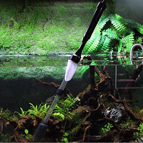 QOJA aquarium battery syphon auto fish tank vacuum gravel water