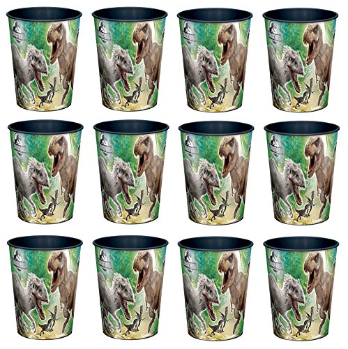 Universal Studio Jurassic World T Rex 16oz Party Plastic Cup ~Party Favor Supplies~ by Disney by BirthdayExpress