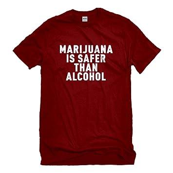 Indica Plateau La Marihuana es más Seguro para Hombre de la Camiseta: Amazon.es: Coche y moto