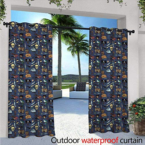 Pirates Outdoor Privacy Curtain for Pergola W96