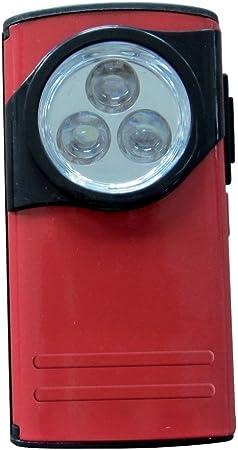 Lampe De Poche Led Rouge Plate Boitier Metal Amazon Fr Cuisine Maison