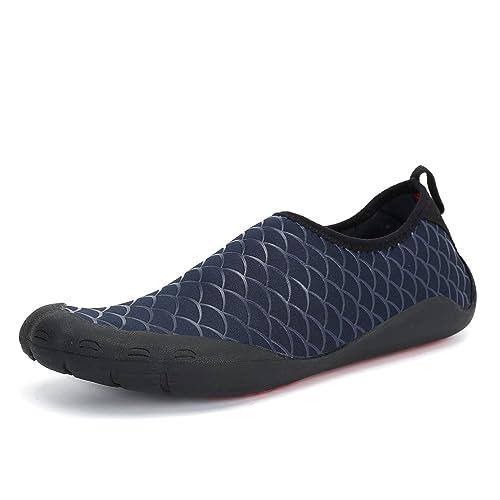 Dannto Hombres Zapatos de Agua de Natación Calzado Secado Rápido Transpirable Zapatos de Playa Surf Buceo