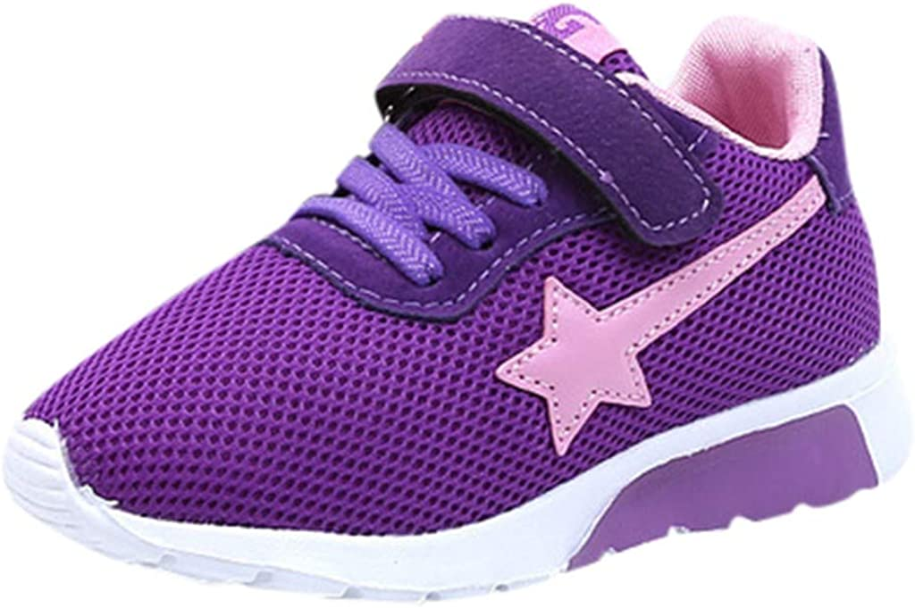 Toddler Boys Girls Mesh Breathable Sneakers Casual Running Shoes Suma-ma Kids Babys Star Printed Sports Shoes