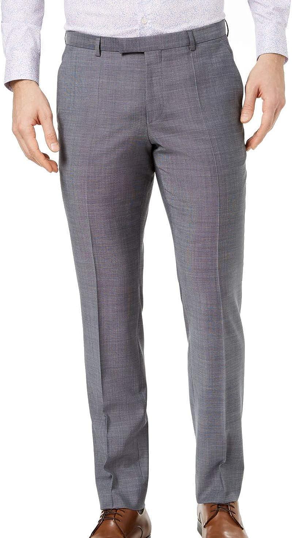 Hugo Boss Mens Crosshatch Dress Pants Slacks