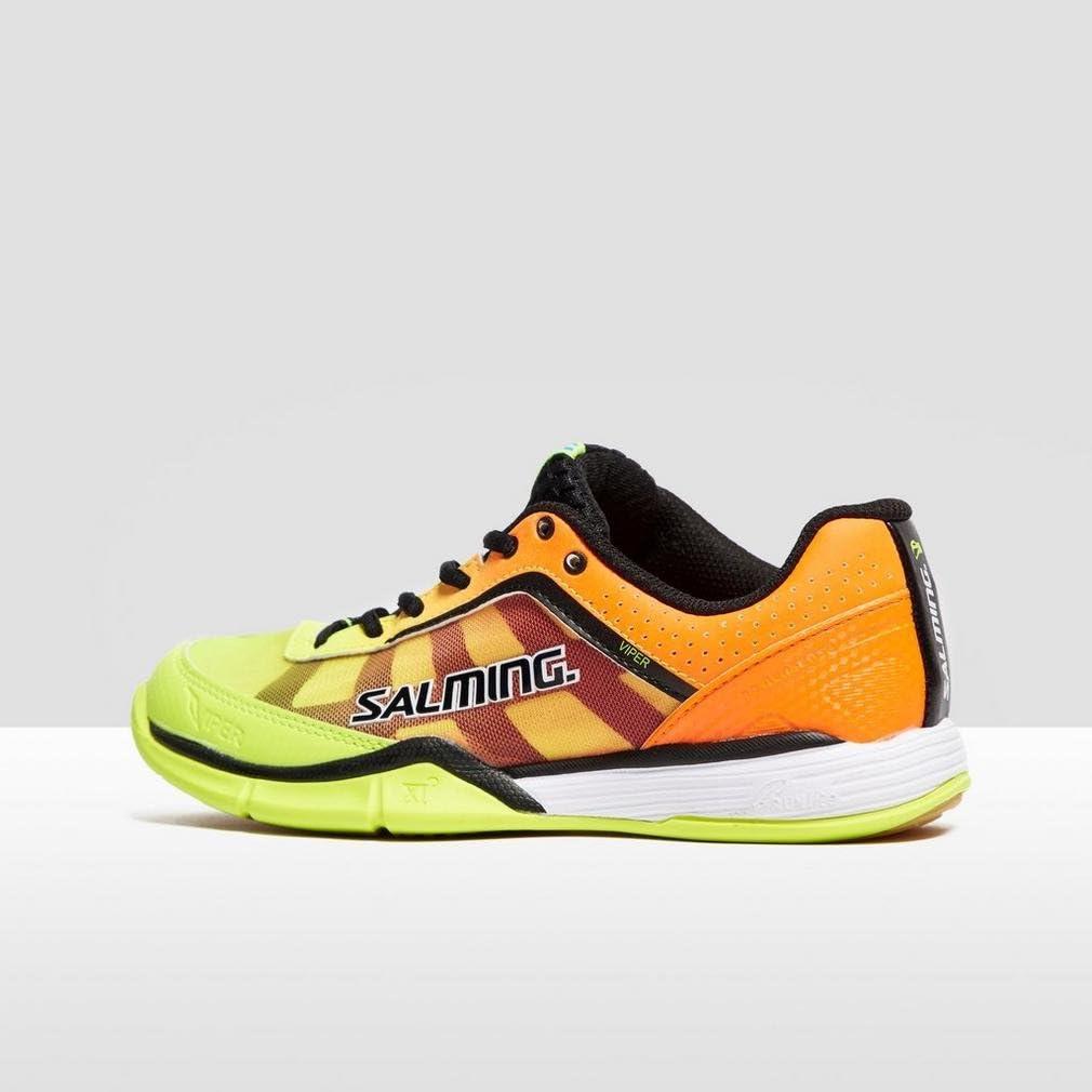 Salming Viper 4 Junior Yellow//Orange Indoor Court Shoes