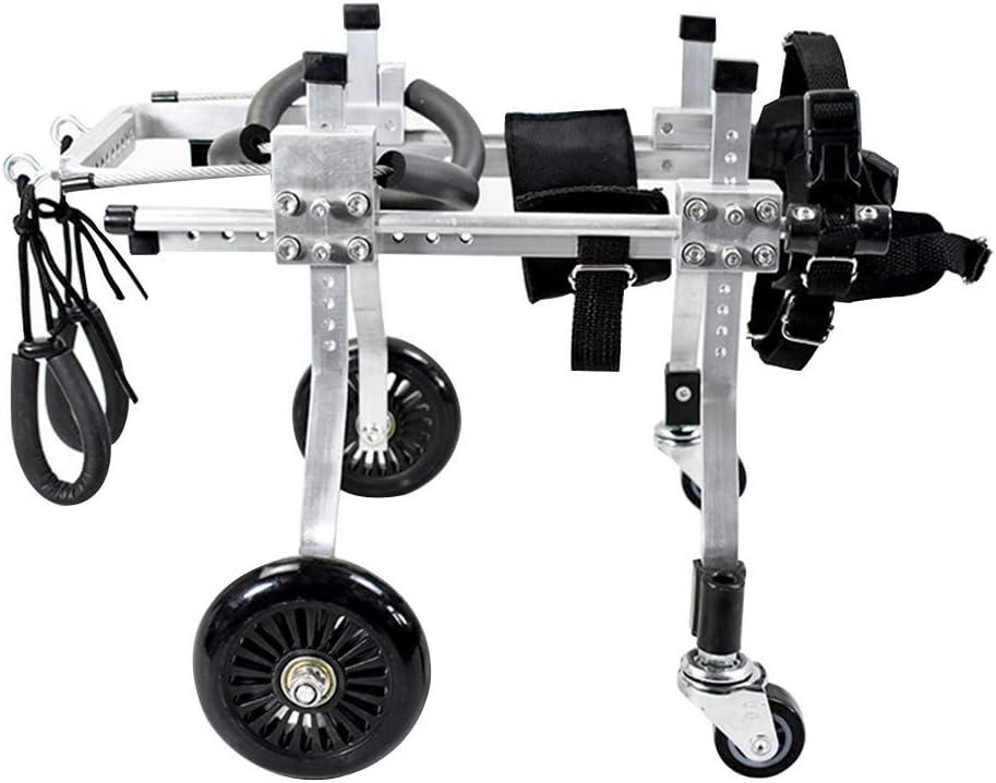 ペット犬スクーターアジャスタブルアルミチェア無効犬車椅子4ホイール後肢補助リハビリテーションエクササイズカートステッパー (サイズ さいず : XXXS)