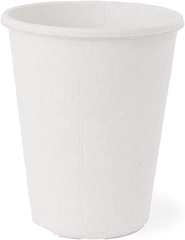 Zume Premium Compostable, Eco Friendly, Disposable, 8 oz Hot & Cold Beverage Cup, White (Pack of 25)