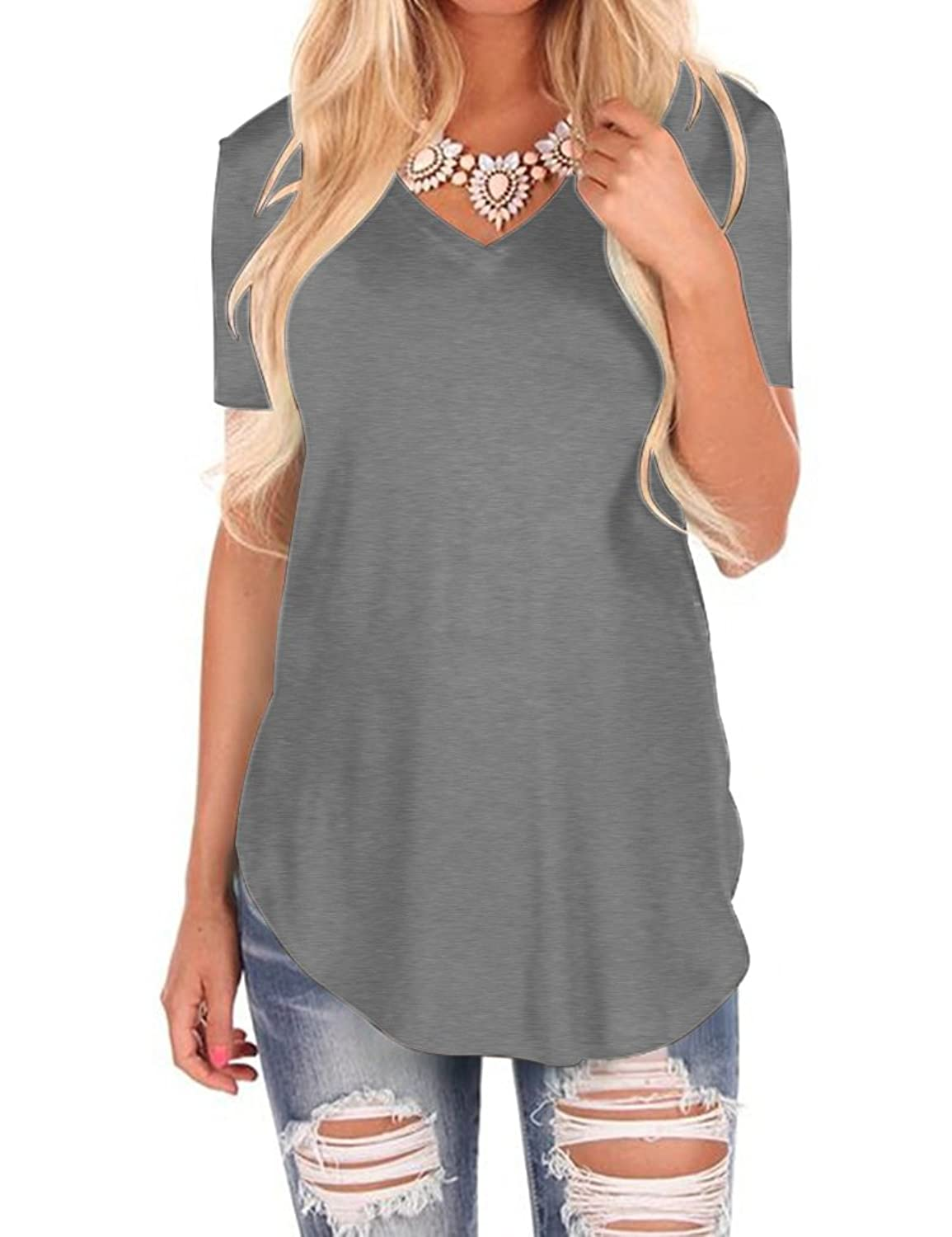 c691a05aa6f7c9 Chinabrands.com: Dropshipping & Wholesale cheap Uniboutique Womens Short  Sleeve V Neck T Shirts Tops Blouses online.