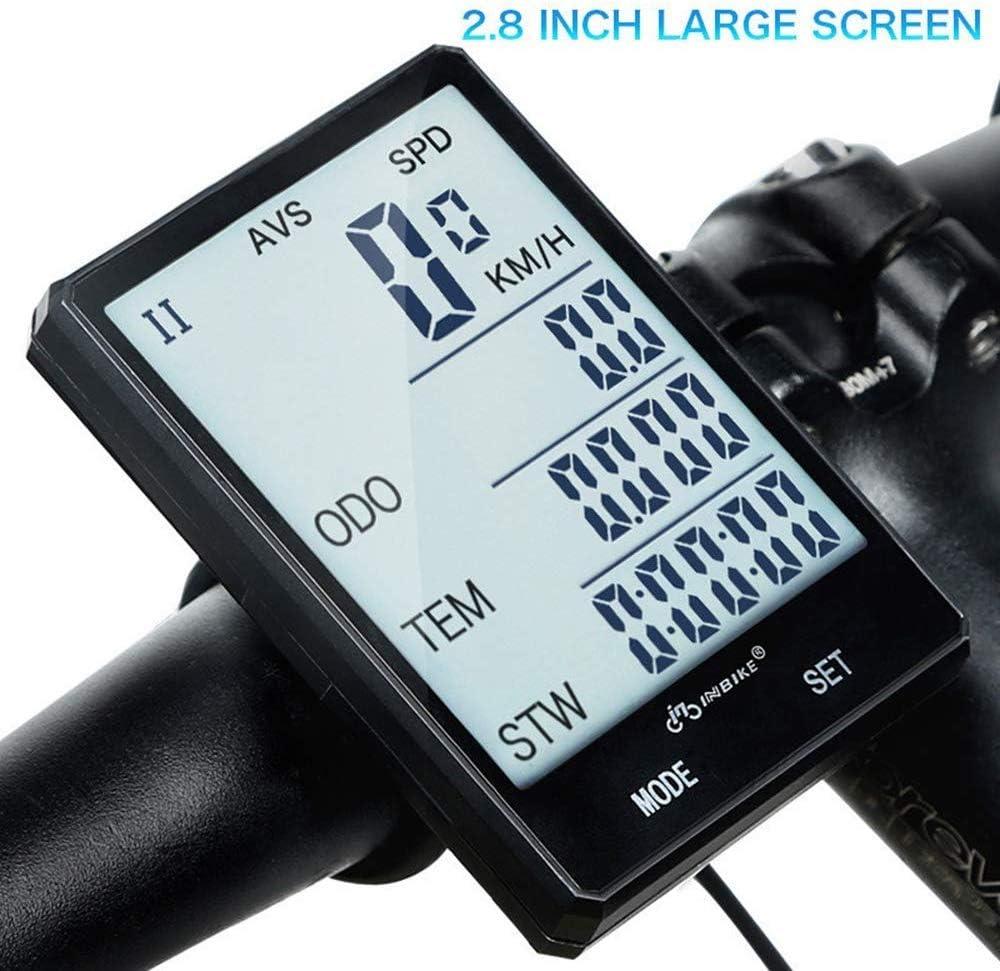Cuentakilómetros cuentakilómetros inalámbrico para Bicicleta con ...