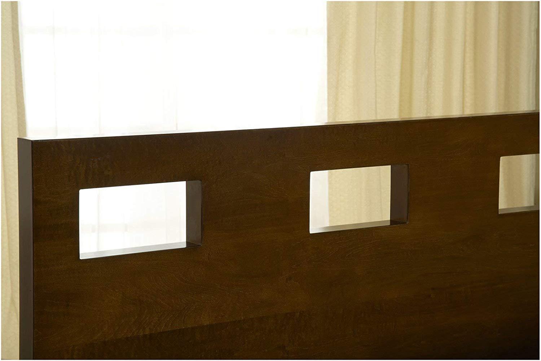 Modus Furniture Riva Platform Bed, Espresso, Queen