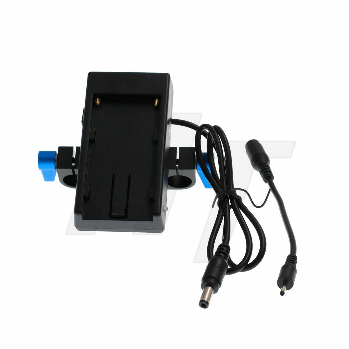 HangTon Power Station NP-F970 770 Battery Mount Plate 12V DC for Camera Monitor(with 15mm Rod clamp) by HangTon Connect