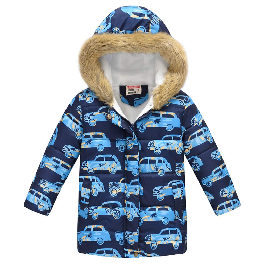 Kids Hooded Padded Jacket Toddler Windproof Snow Coat Puffer Overcoat by Yuege Baby Clothes