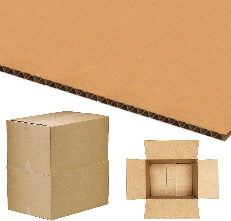 5 10 20 40 x cajas de cartón grandes de tamaño grande y fuertes, cajas de cartón para mudanzas, color 50,8 x 40,6 x 30,5 cm.: Amazon.es: Oficina y papelería