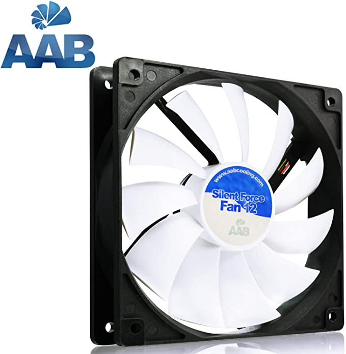 AAB Cooling Silent Force Fan 14 Ventilador Externo Portatil Ventilador 14cm Fan PC Un Silencioso y Muy Efectivo Ventilador 140mm Cooler 12V 100 m3//h 600 RPM