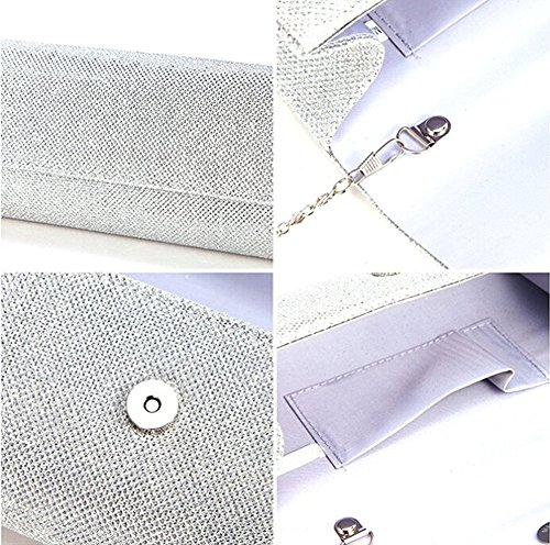 Evening Bag Clutch Purses for Women,iSbaby Ladies Sparkling Glitter Party Handbag Wedding Bag with Chain by iSbaby (Image #1)