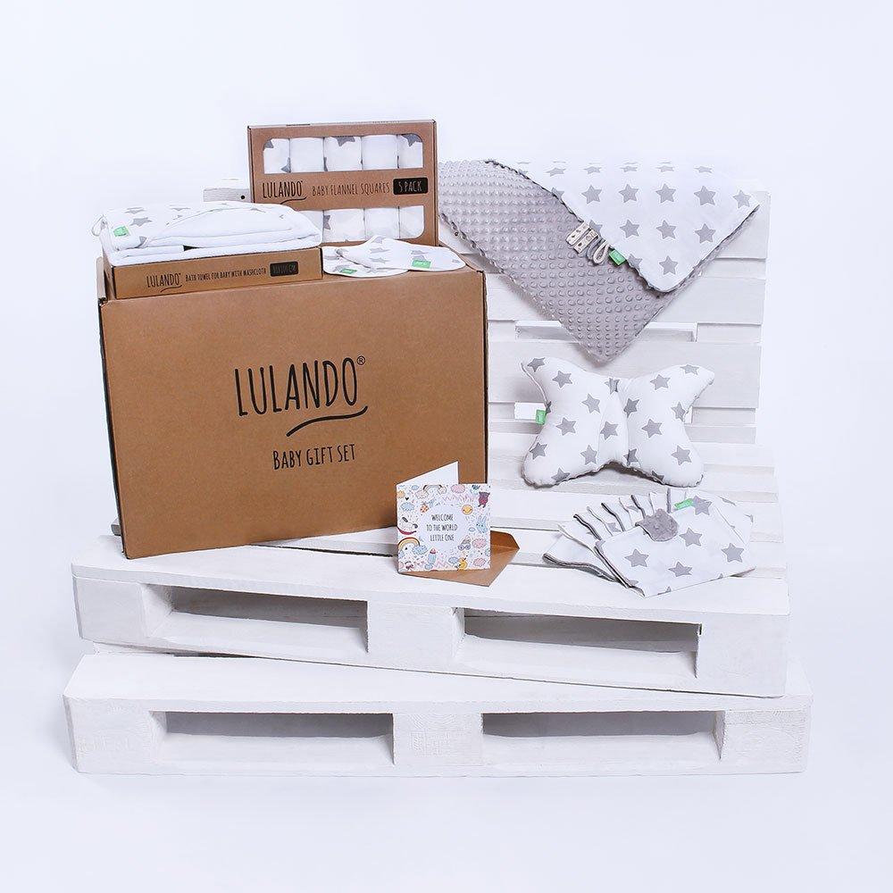 LULANDO Baby Geschenkset Geschenkbox Erstausstattung für Neugeborene und Babys. In zwei Varianten erhältlich: Groß (10-