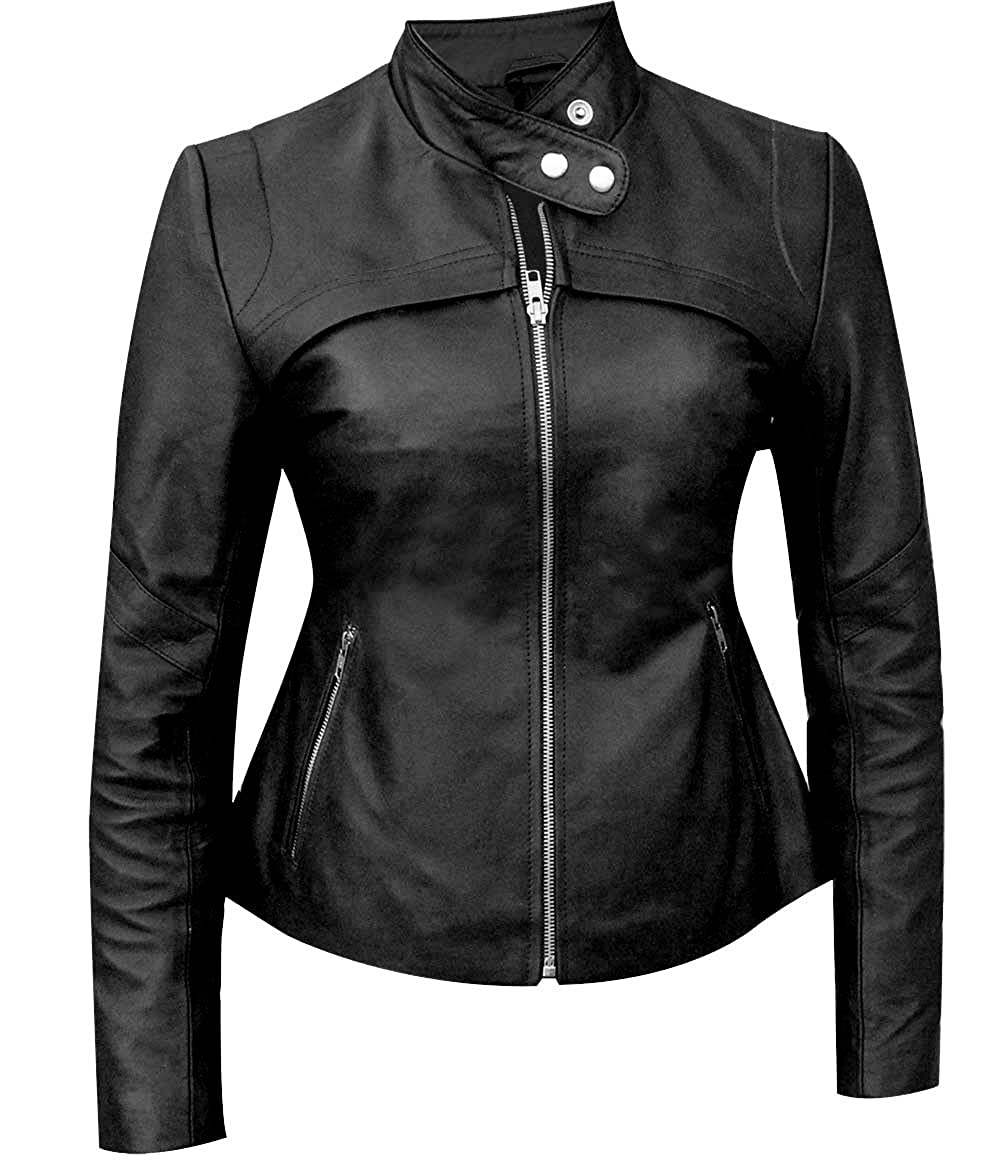 The Sparks Up Inc. San Andreas Stylish Alexandra Daddario Real Leather Jacket